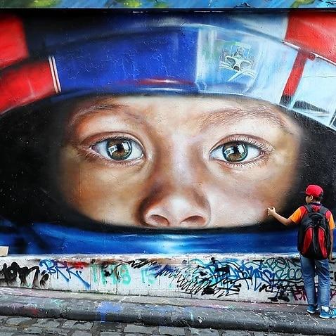 A mural in Hosier Lane, Melbourne.