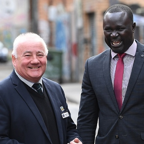 City of Melton Mayor Bob Turner is one of eight Melbourne mayors joining South Sudanese community leader Maker Mayek to call for an end to gang rhetoric.
