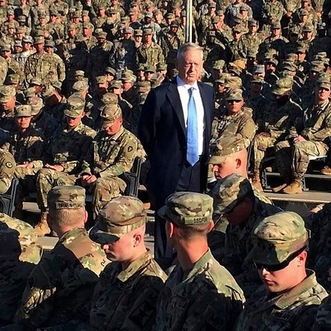 (File Dec 2017) Defense Secretary Jim Mattis has delivered the Penatagon's national defense strategy.