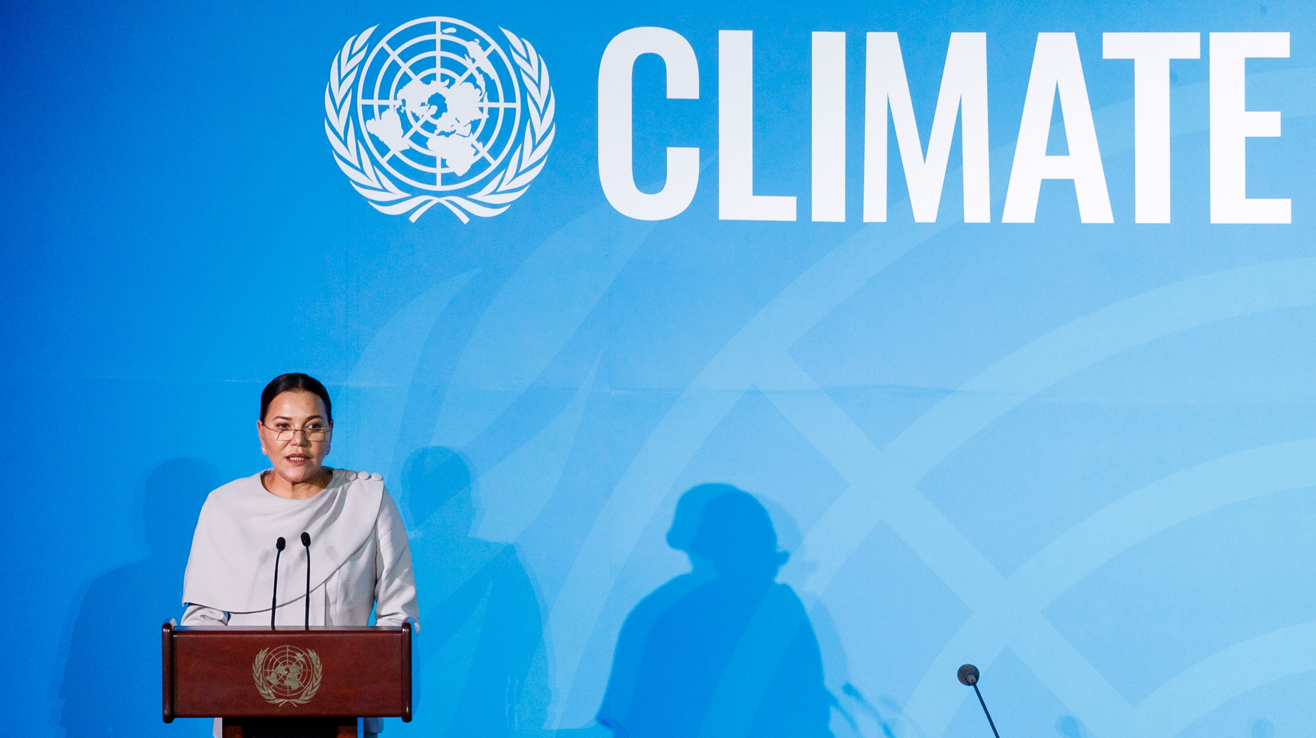 Princess Lalla Hasna of Morocco speaks during the 2019 Climate Action Summit.