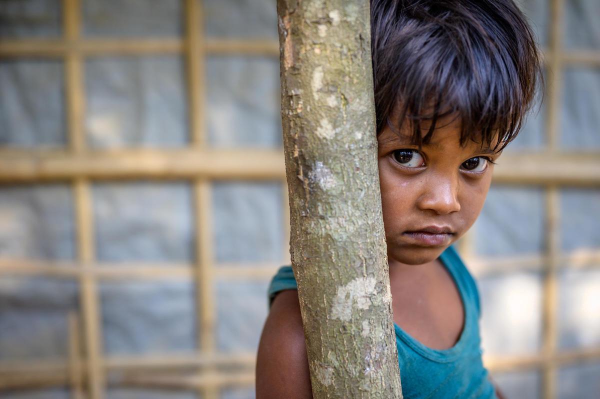 Rohingya refugee child.