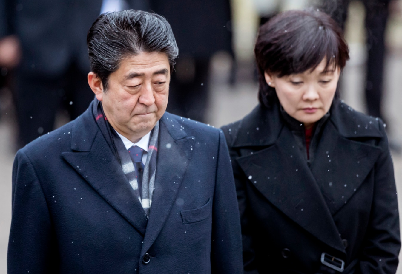 Japanese Prime Minsiter Shinzo Abe and his wife, Akie, have been embroiled in a land sale scandal.