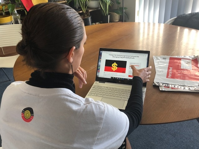 The Change.org petition to get the Aboriginal flag's licensing agreement chnaged.