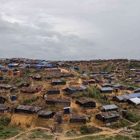 file photo, a then setup refugee camp for Rohingya Muslims, who crossed over from Myanmar into Bangladesh