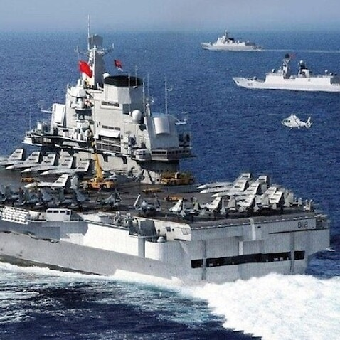 China's aircraft carrier passes south of Taiwan