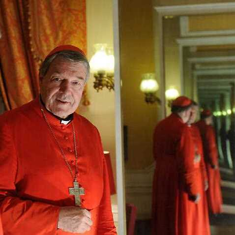 Cardinal George Pell in Rome. The church has been urged to act on the disgraced cleric as soon as possible.