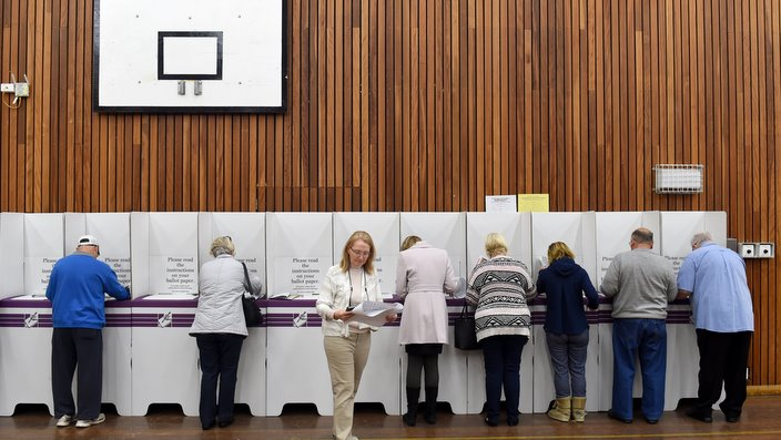 Voters casting their ballots
