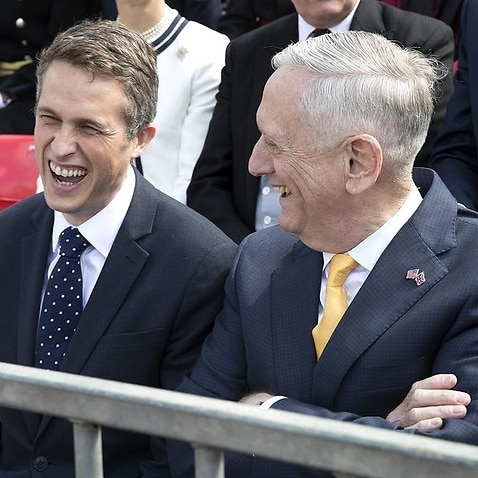 A file image of Gavin Williamson and Jim Mattis