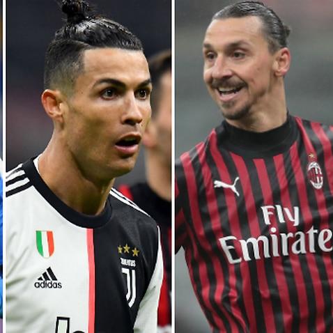 Mertens Ronaldo Ibrahimovic Lukaku