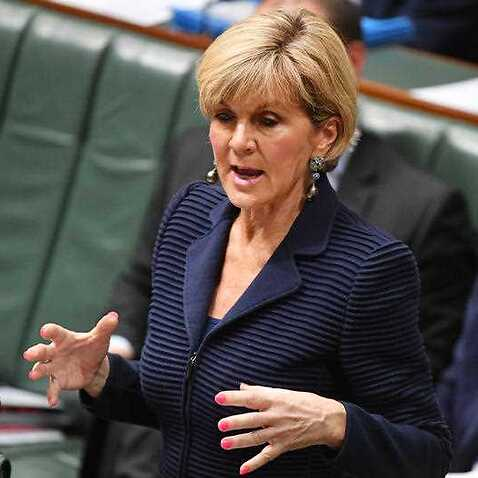 Minister for Foreign Affairs Julie Bishop during Question Time in the House of Representatives in Canberra, Wednesday, October 25, 2017.