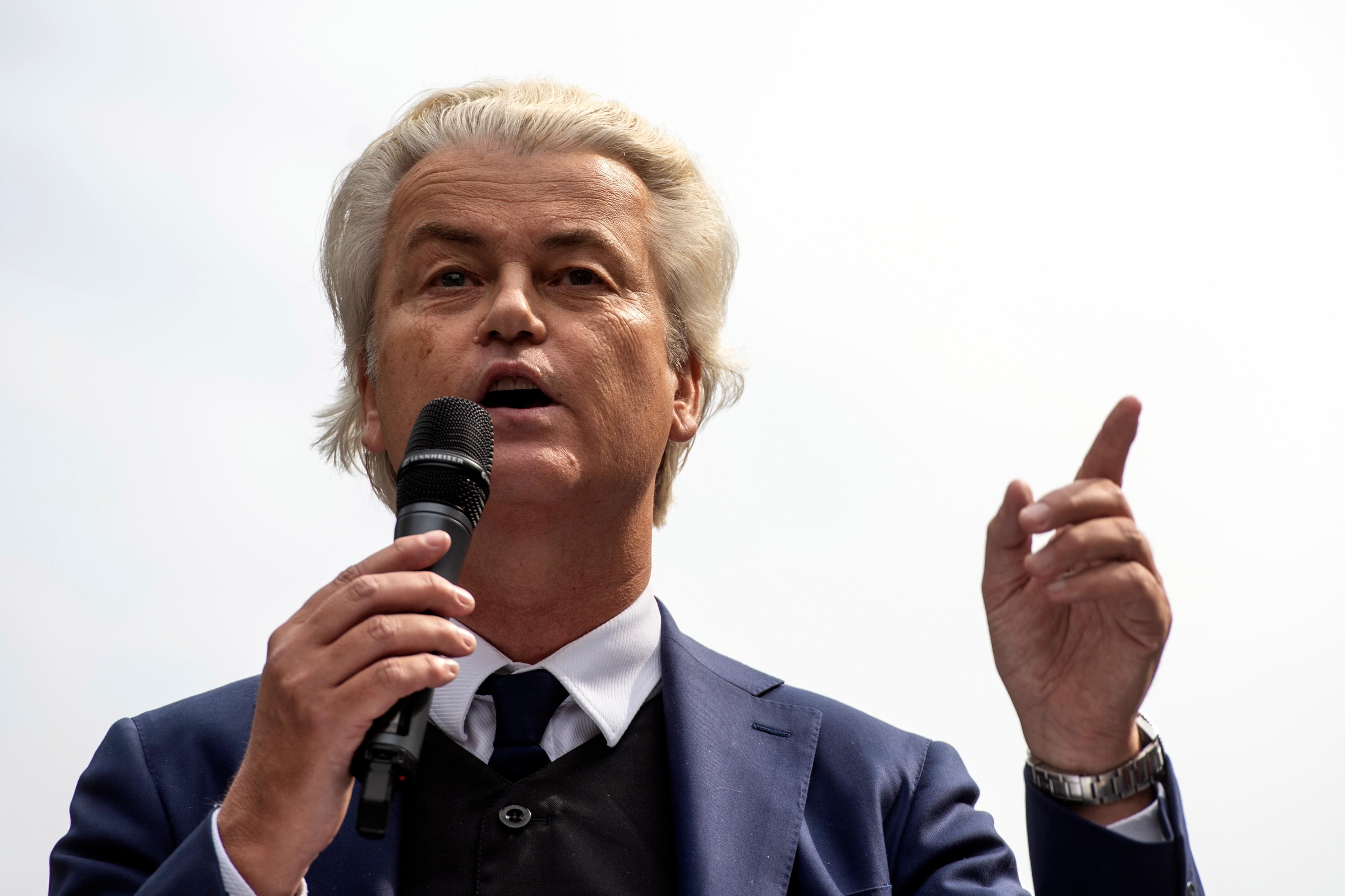Der rechtsextreme und populistische niederländische Politiker Geert Wilders