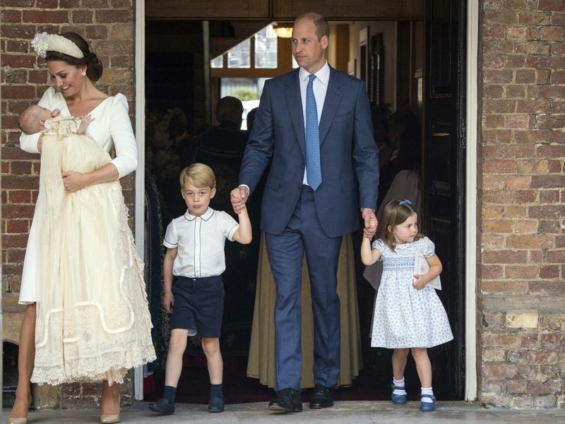 Queen absent from christening of Prince Louis