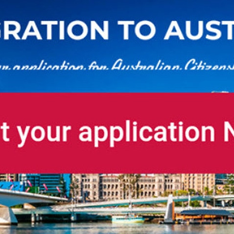 The website that Amrit used in order to apply for Australian citizenship