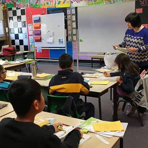 启思中文学校Campsie校区的一个中文课堂