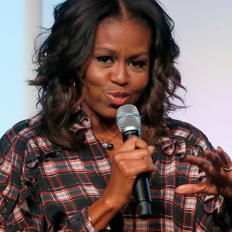 Former first lady Michelle Obama at the second day of the Obama Foundation Summit on November 1, 2017.