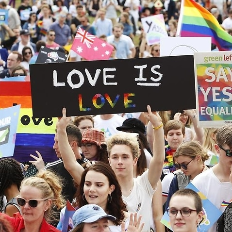 Marriage equality supporters in Sydney