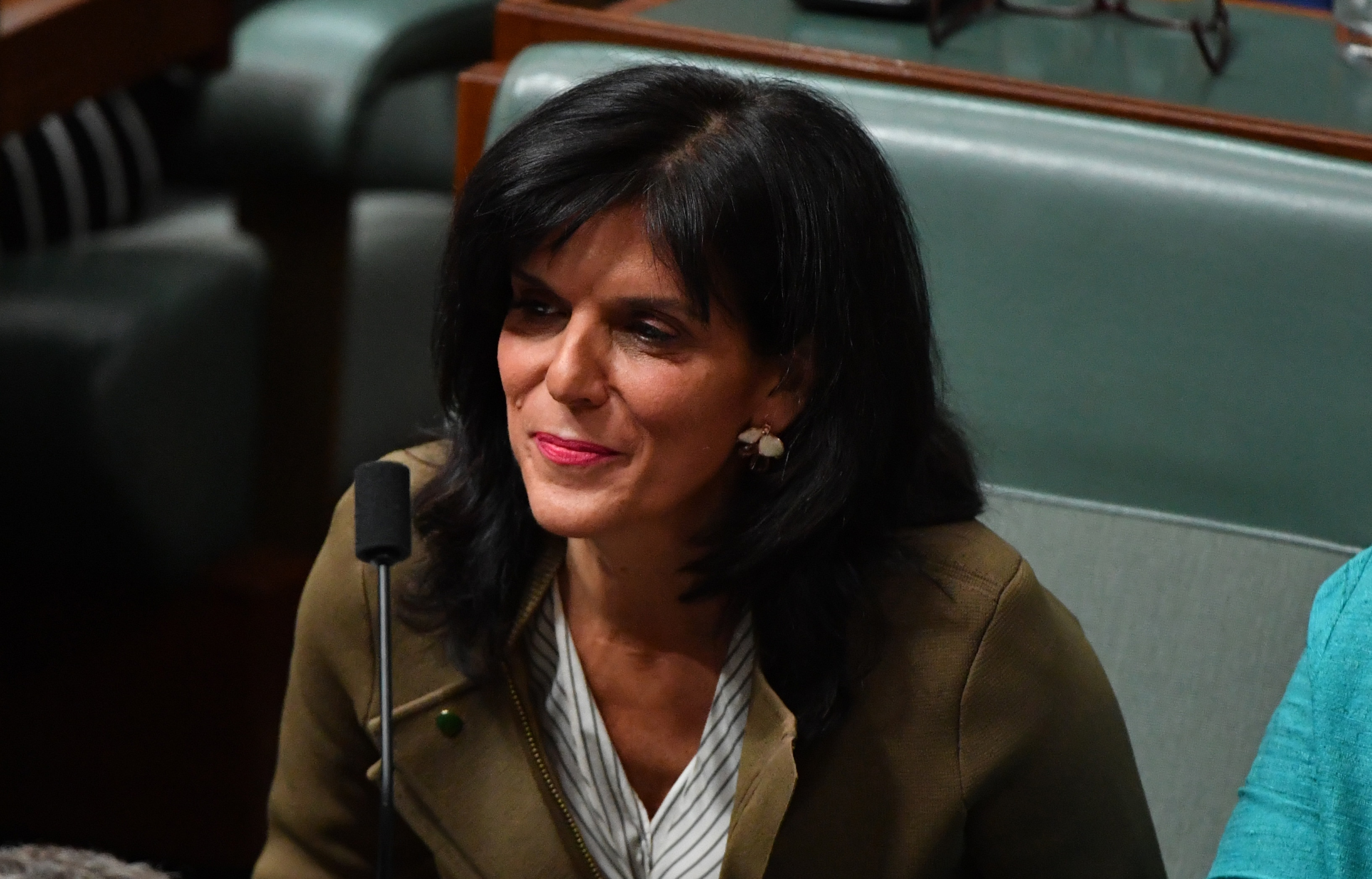 Former Liberal Member for Chisholm Julia Banks during Question Time.