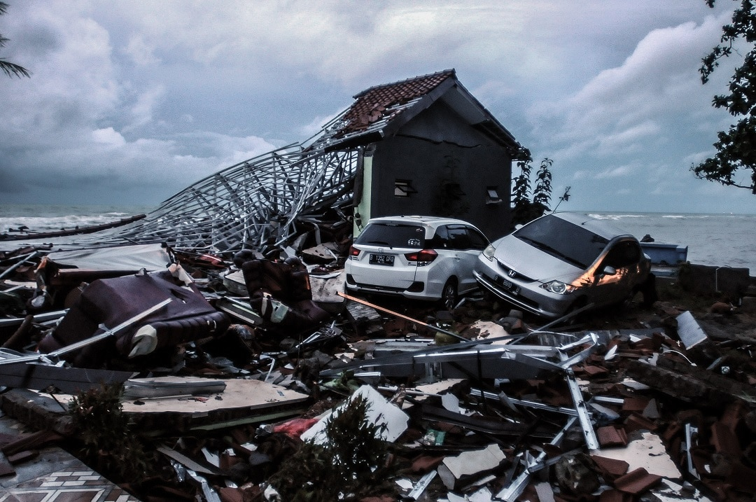 Banten was smashed by a tsunami on Saturday following an eruption of the Anak Krakatoa volcano.