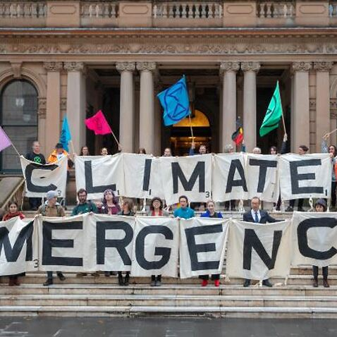 A recent climate change march in Sydney.