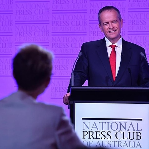 Labor leader Bill Shorten during the third Leaders Debate.