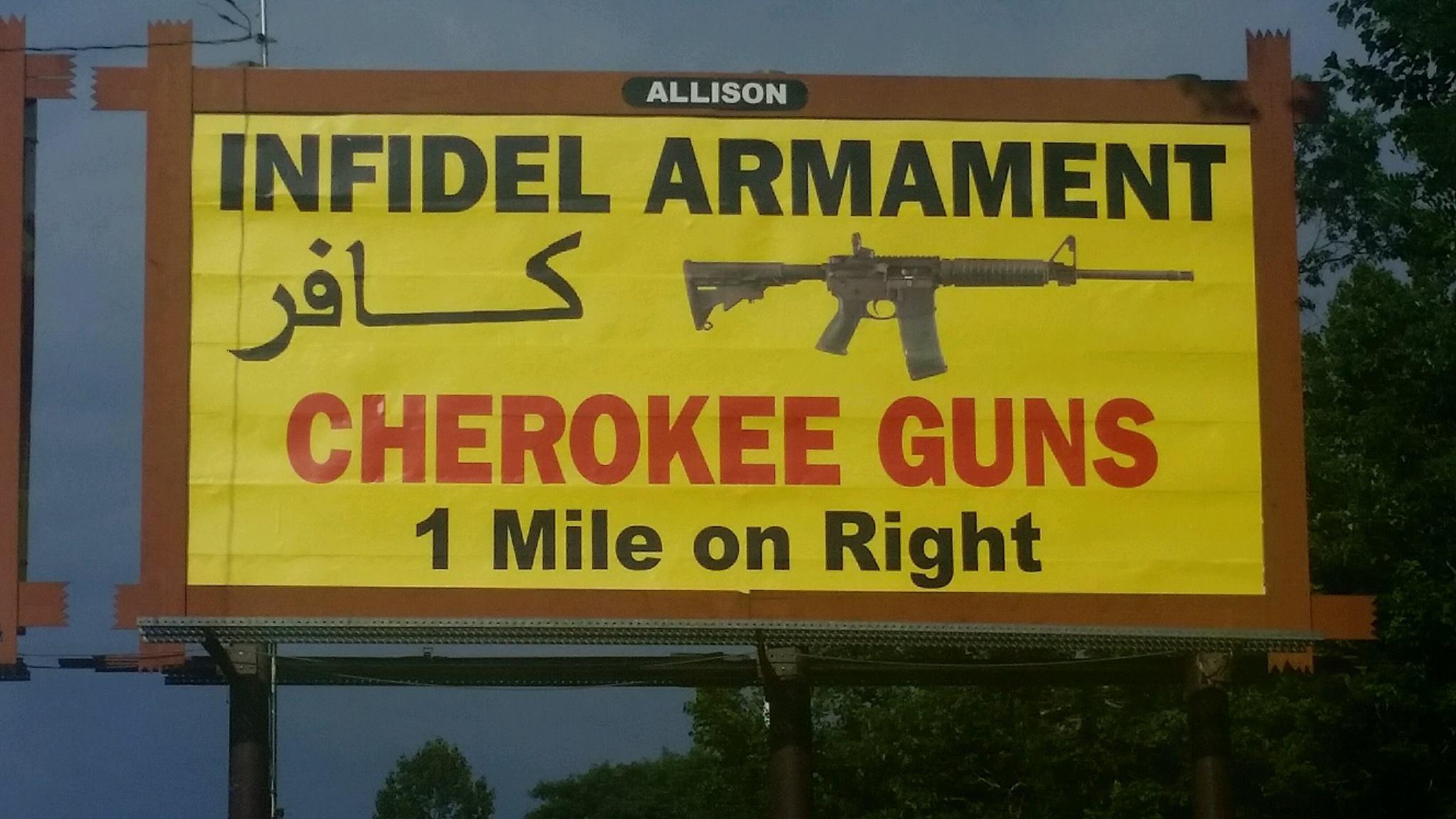 An earlier billboard posted by Cherokee Guns.