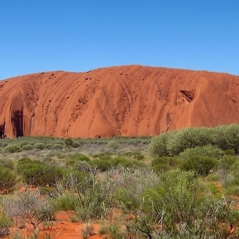 Uluru, also known as Ayers Rock, in central Australia.