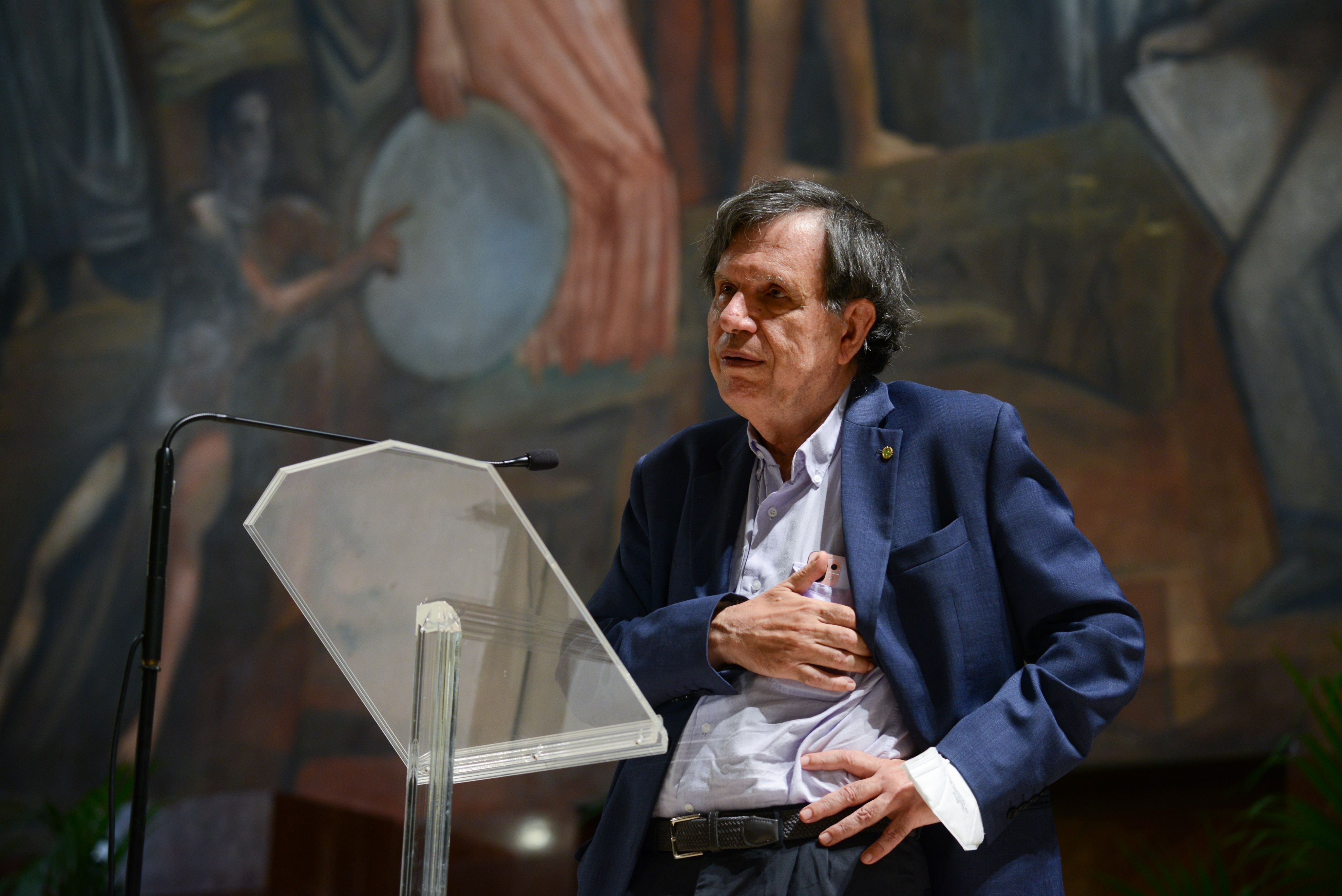 Professor Giorgio Parisi meets university professors and students on 5 of October, 2021 at the La Sapienza University in Rome, Italy.