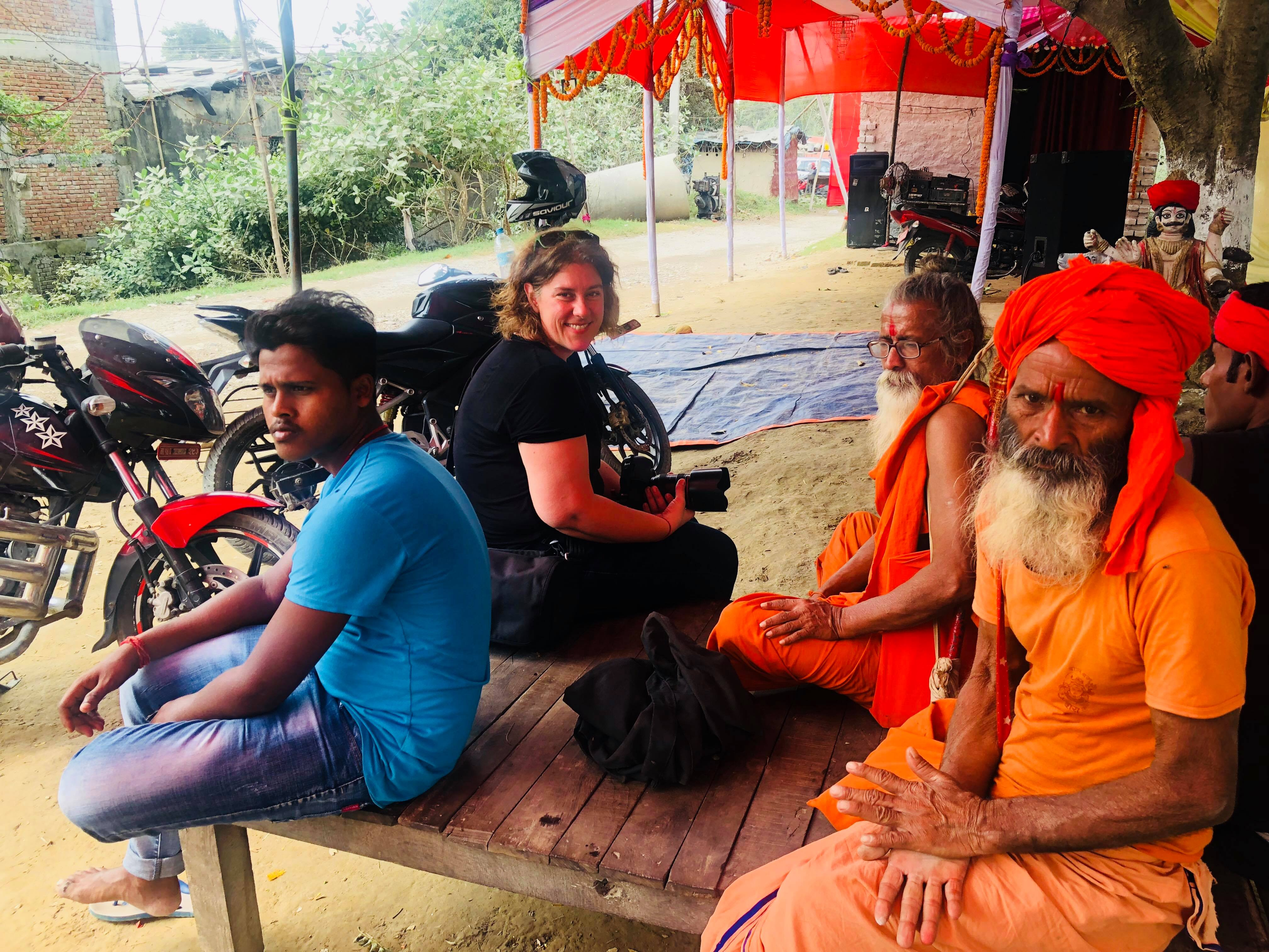 Kerry Pryor OAM (2nd from left) in Nepal.