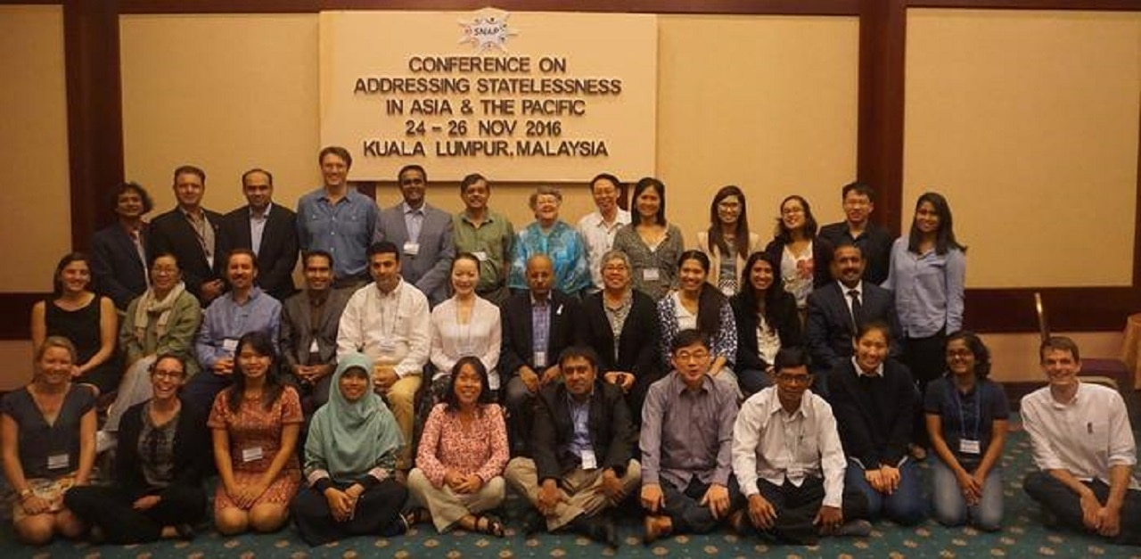 SNAP conference addressing statelessness in the Asia-Pacific, Kuala Lumpur 2016.