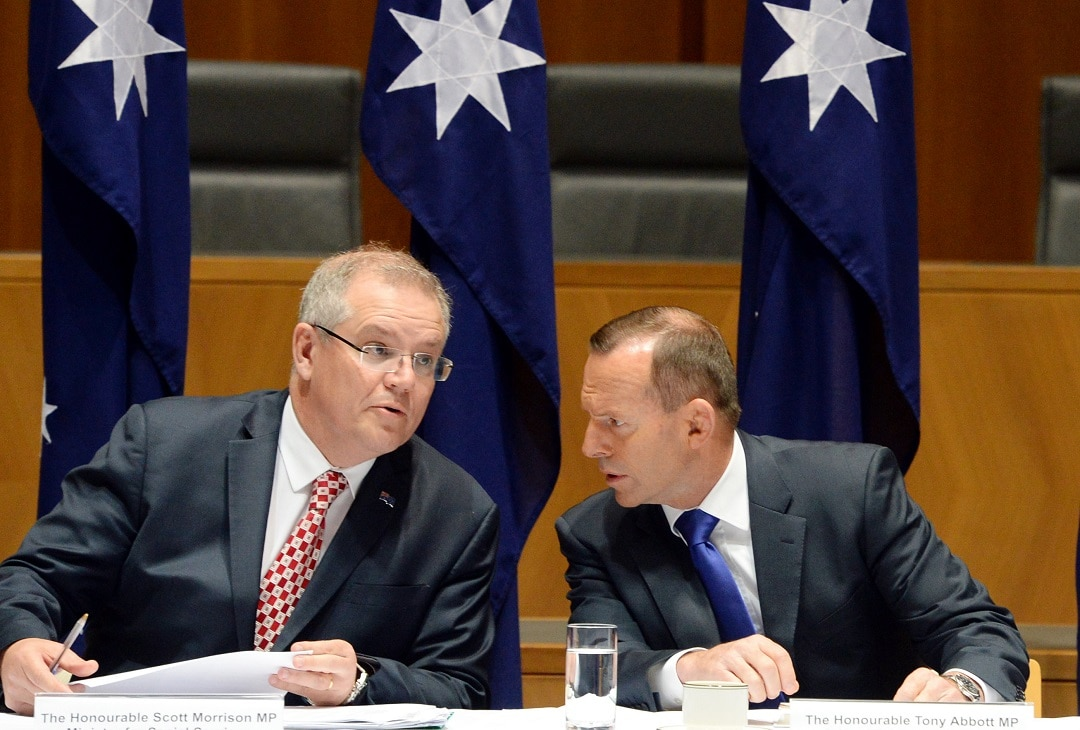 Scott Morrison and Tony Abbott.