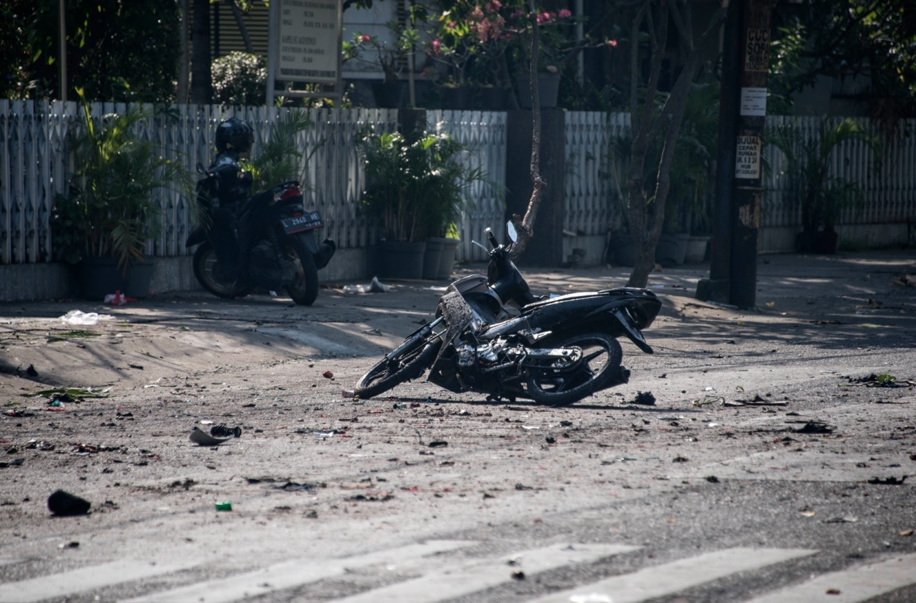 9 killed, 40 wounded in bomb attacks at Indonesia's 3 churches
