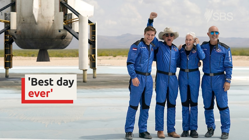 Image for read more article 'Billionaire Jeff Bezos has successful first space flight'