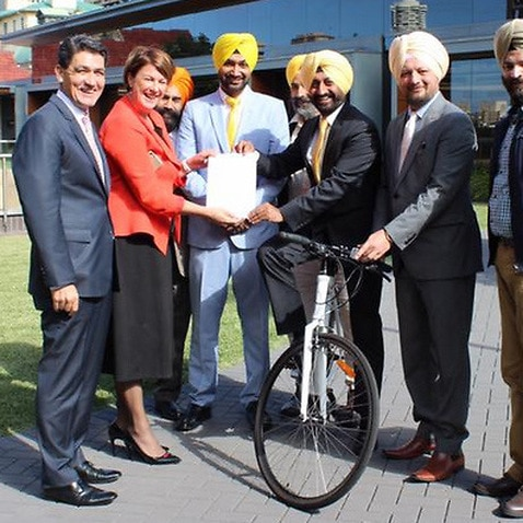 Representatives from the Sikh community with Melinda Pavey, Minister for Roads and Hon' Geoffrey Lee MP from Parramatta