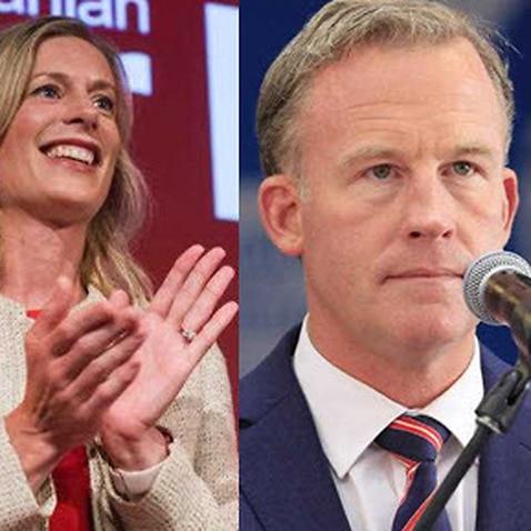 Labor Leader Rebecca White, Premier Will Hodgman and Greens Leader Cassy O'Connor