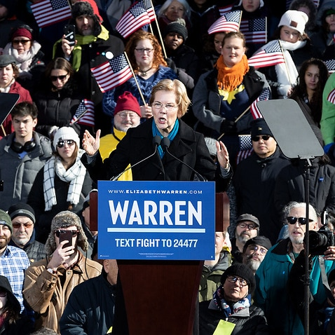 Massachusetts Senator Elizabeth Warren officially announces her candidacy for President of the United States at a gathering in Lawrence.