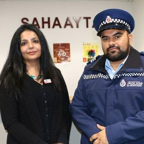 Sahaayta Counsellor Sucharita Varma and Sergeant Gurpreet Arora
