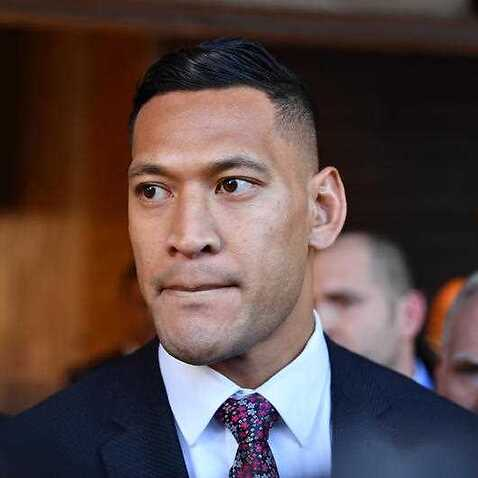 Israel Folau arrives for a conciliation hearing at the Fair Work Commission in Sydney, Friday, 28 June, 2019