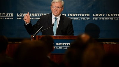 Rudd Draws Foreign Policy Into Election