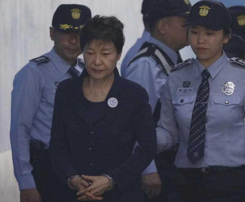 Former South Korean president Park Geun-hye