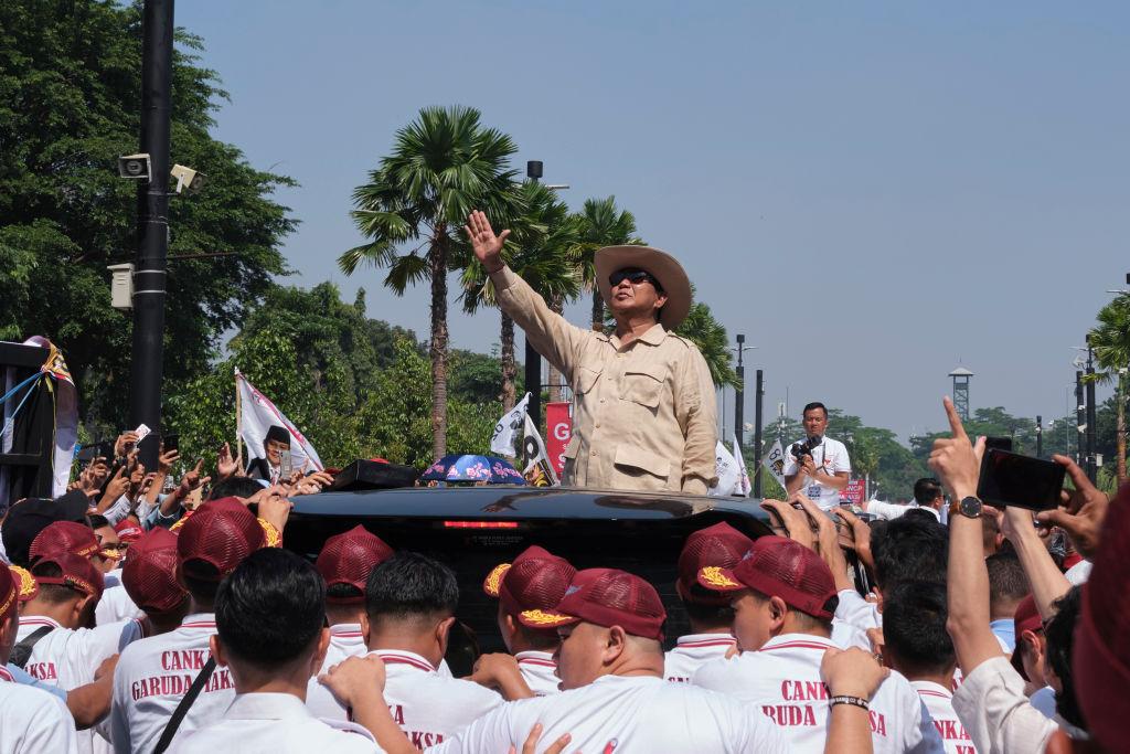 Prabowo Subianto campaigning