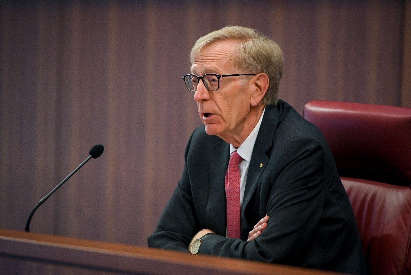 The Commissioner Kenneth Hayne during The Royal Commission's initial public hearing into Misconduct in the Banking, Superannuation