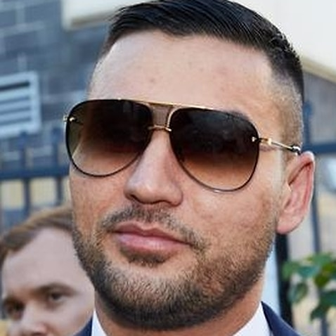 Salim Mehajer leaves the Burwood Local Court (file image)