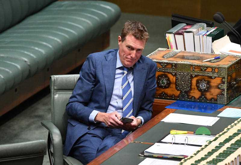 Attorney-General Christian Porter during the debate.