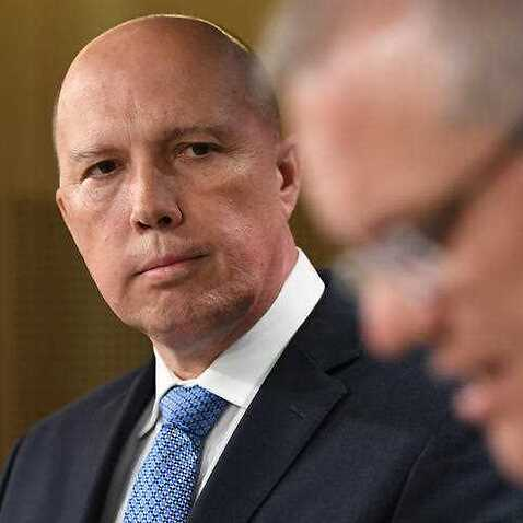 Home Affairs Minister Peter Dutton and Prime Minister Scott Morrison unveiling tough new proposals to strip extremists of their Australian citizenship.