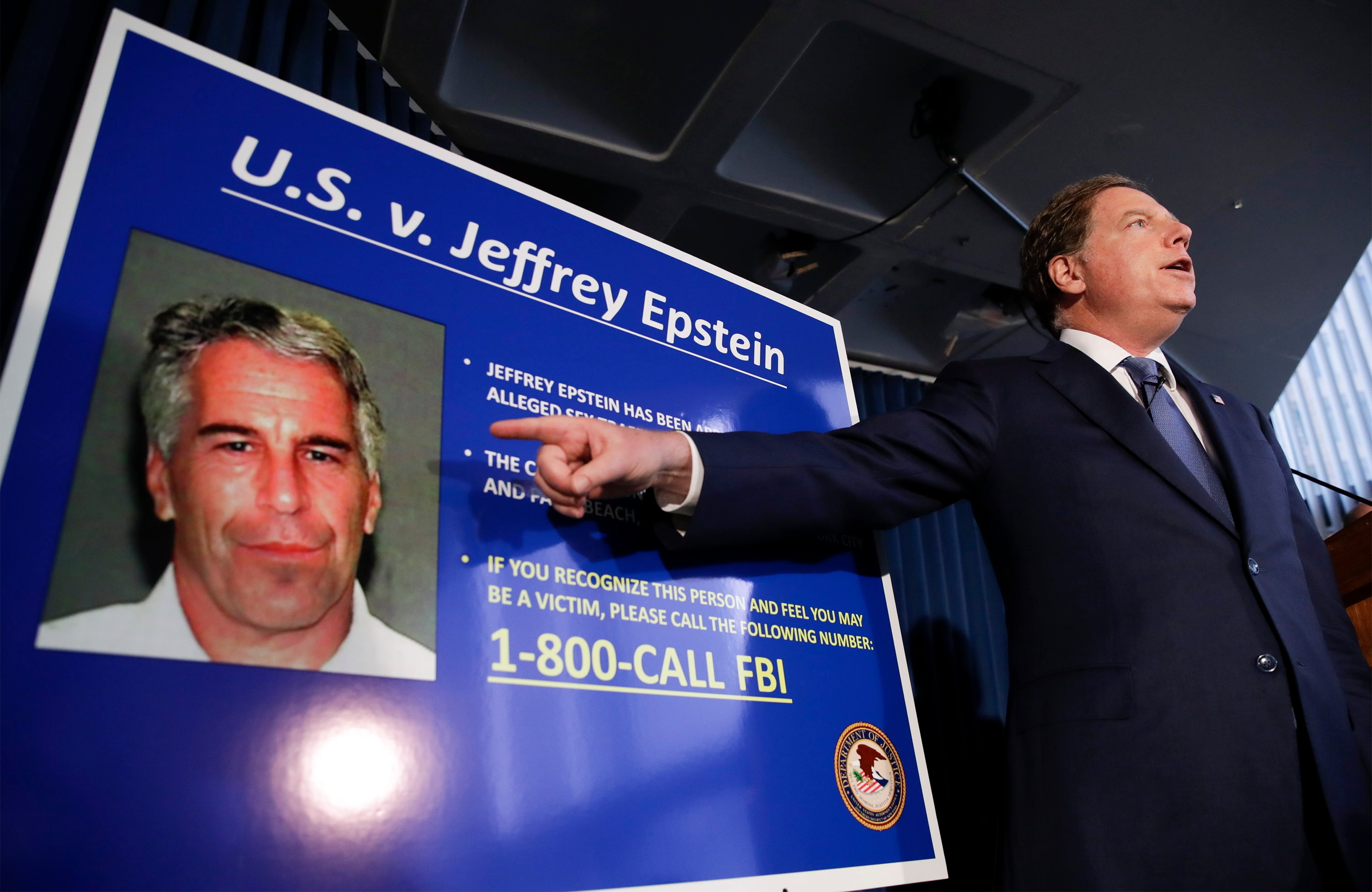US  attorney: Epstein abuse probe steadfast despite his death