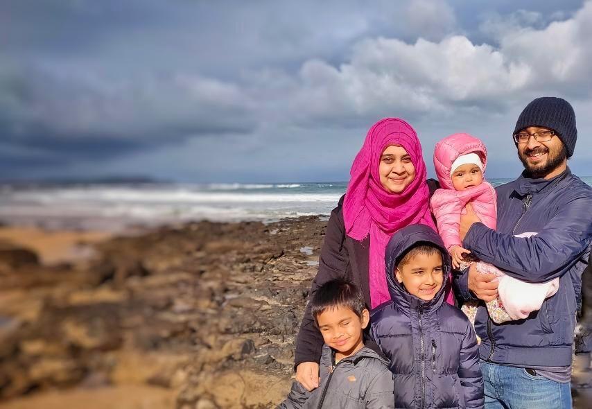 Mysha Islam and her family.