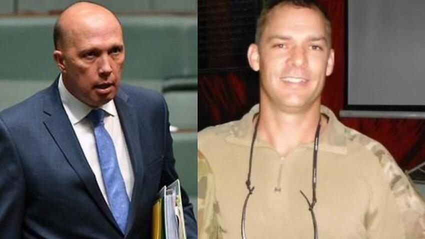 Image for read more article 'Aussie war hero 'ignored' by Peter Dutton says he's disgusted by au pair intervention'