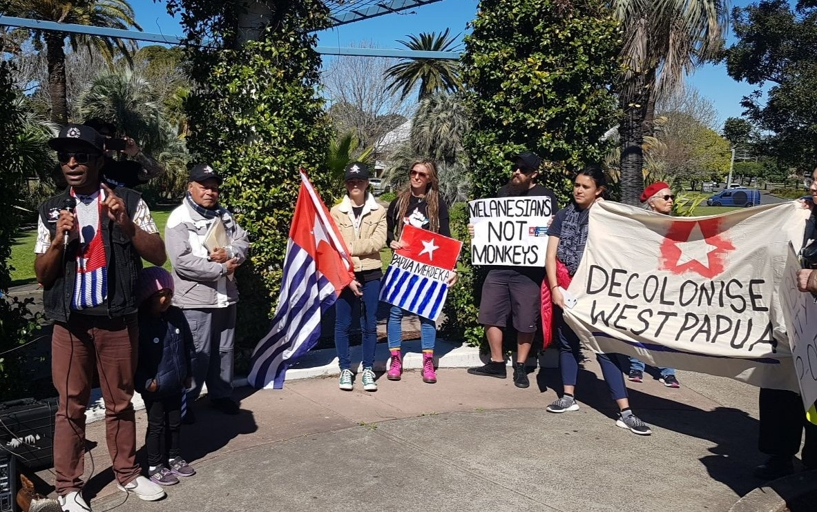 A rally was held in Sydney's Kingsford on Saturday morning.