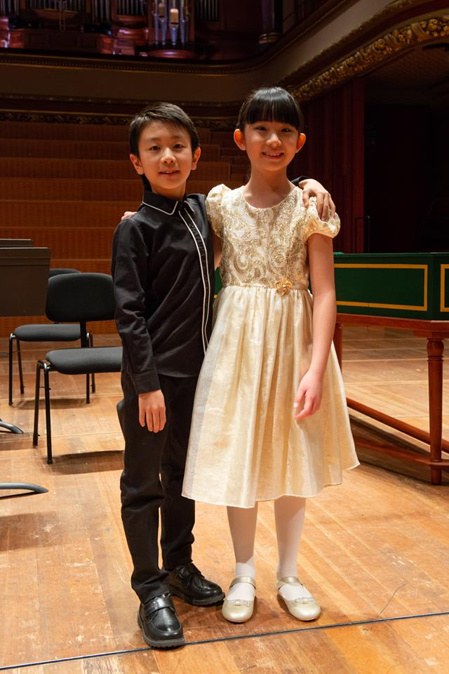 Christian Li (pictured left) and Chloe Chua (pictured right) both won the Junior Prize a the Menuhin Competition.