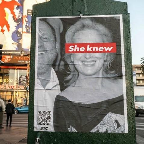 Poster of Meryl Streep found in LA.
